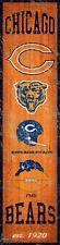 "Chicago Bears Heritage Banner Retro Logo Wood Sign 6"" x 24"" Wall Decor Est 1920"