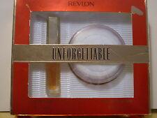UNFORGETTABLE by REVLON SET ED COLOGNE SPRAY.4oz GOLDEN PEARL DUSTING POWDER2OZ