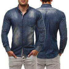 Camicie casual e maglie da uomo a manica lunga in denim