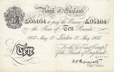 Nazi WW2 Operation Bernhard Judaica Bank of England white note 10 pounds P-336