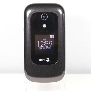 Doro 7050 (Consumer Cellular) 4G LTE GSM Flip Phone Black