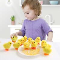 2pcs Wind-up Hopping Jumping Chicken Clockwork Walking Toys Kids Children Gift