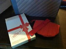 Vintage Avon Coordinates Makeup Bag red quilted case water resistant