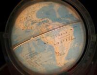 💥RARE! 💥Vintage Soviet SOUVENIR Table Night Lamp Earth Globus USSR Globe OREOL