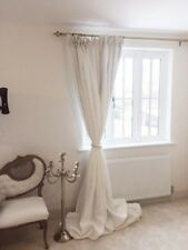 BESPOKE whit Linen BLACKOUT Thermal PINCH PLEAT Up to 3m LONG 2.80mWide CURTAINS