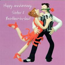 Sister and Brother-in Law Wedding Anniversary Card, One Lump or Two Collection