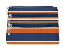 New Without Tags Baggallini 3 Zip Cosmetic Case - Pacific Stripes - Sample Bag