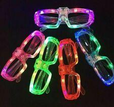 LED Shutter Glasses Light Up Shades Flashing Rave Wedding Party Supplies 12pks