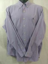 Ralph Lauren Checkered Purple & White L/S Shirt (Blake) Men's Size Large (L)