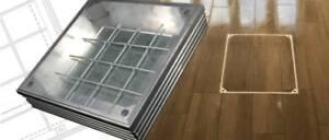 Decorative Aluminium ManHole Cover - Double Sealed - 600 x 600 x 48mm