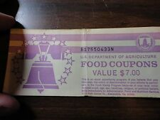 FOOD STAMP COUPON $7 book full of 1- $5 coupon 1994a MONTH CODE