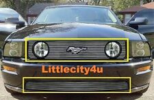 FOR 05 06 07 08 09 Ford Mustang GT V8 BILLET GRILLE COMBO INSERTS LOGO SHOWN