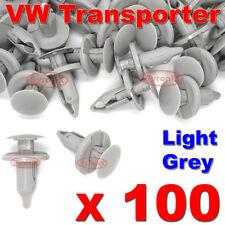 100 VW TRANSPORTER T4 T5 LONGER LONG TRIM PANEL CLIPS LIGHT GREY CARPET LINING