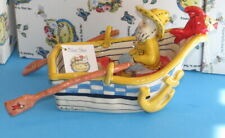 The Fisherman's Lookout Rowboat Blue Sky Clayworks Heather Goldminc 2006 Nib