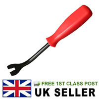 CAR PANEL TRIM REMOVAL TOOL PIN UPHOLSTERY PRY BAR LEVER CLEAT CLIP TACK LIFTER