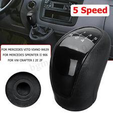 5 Levier de Vitesse Pommeau Noir pour Mercedes Vito Viano Sprinter II VW Crafter