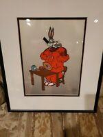 """Warner Bros """"HARE-DO"""" Bugs Bunny & Gossamer Framed Sericel W/COA #4403  / 5000"""