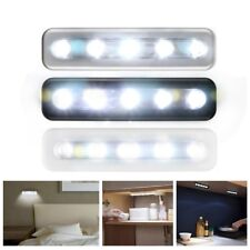 5LED Light Bar Battery Operated Cabinet Closet Light Corridor Wall Touch Lamp US