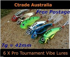 6 x 42mm 7g Fishing Switchblade Blade VIBE VIB Metal Lures Bream Flathead Jew