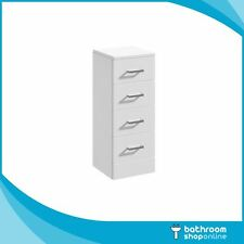 300mm 4 Draw Gloss White Bathroom Furniture Cabinet Storage Unit
