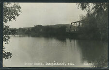 WI Independence RPPC 1910's RIVER SCENE with TOWN & BRIDGE No.K455