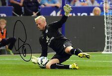 Kasper Schmeichel Signed 12X8 Photo Leicester City F.C. Genuine COA AFTAL (1747)