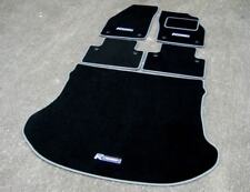 Black/Grey Car Mats to fit Volvo C30 (2006-2013) + Boot Mat + R Design Logos