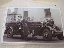 1930 'S ARHEN FOX FIRETRUCK ENGINE 50 BOSTON MA FD. 11 X 17  PHOTO   PICTURE
