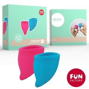 Coppette mestruali 2x Fun Cup Size A Menstrual Cup Pink & Turquoise Fun Factory