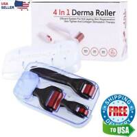 4 in 1 0.5/1.0/1.5mm Derma Roller Micro Needle Microneedle Therapy Skin Scar Kit