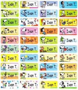 120 SNOOPY Waterproof Name Labels-SCHOOL,NURSERY(Buy 5 get 1 FREE)