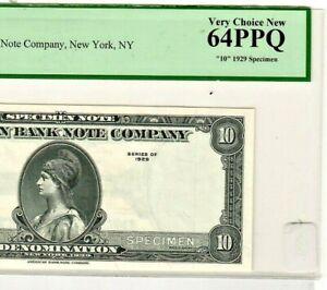 "$10  SPECIMEN""TEST NOTE"" AMERICAN BANK NOTE (SPECIMEN) ""PCGS GRADED"" EPQ 64 !!!!"