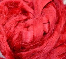 100 % Leinen Kammzug feuerrot, Leinen für filzen und spinnen 100 g farbig