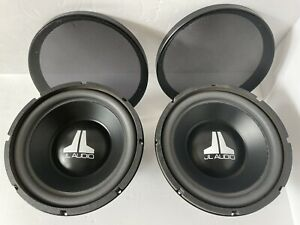 Two Old School JL AUDIO 10W3V1-D4 Subwoofers and Grills