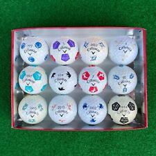12 USED Callaway Chrome Soft Truvis Logo Golf Balls - NO DUPLICATES - DOZEN