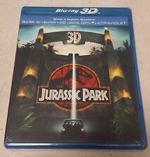 Jurassic Park [Blu-ray + Blu-ray 3D + DVD + Digital Copy + Ultraviolet] - New !!