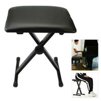 Black Adjustable Piano Keyboard Bench Stool PU Leather Seat Chair