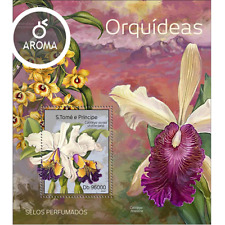 Sao Tome 2014 Orchids/Flowers/Flora/Nature - aroma stamp! - S/S MNH**- (E10)