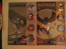 DC Comics Batman Button Collection Lot Of 2 MOC
