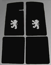Floor mats for Peugeot 504 coupe black velours