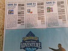 Blue Wilderness Coupons, Cat Food Dog Food Treats, 3 Coupons! 10/31 exp.