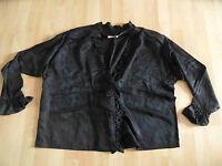IN SEIN schöne weite Blusenjacke schwarz m. Rüschen onesize w. NEU HMI2