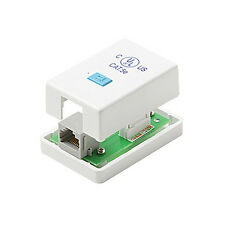 Eagle CAT5E RJ45 Surface Mount Box One Port White 110 Punch Down 1-Port RJ-45
