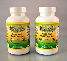 Mega Man vitamins Tribulus Terrestris ginseng saw palmetto- 200 capsules (2x100)