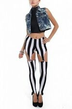 LEGGINGS PANTALON JARRETELLES STRIPES SEXY 40 42 LEGGING