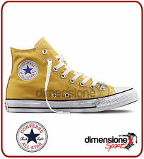 SCARPE ALL STAR alte GIALLE TG 32 US 1 351169C CONVERSE TELA junior GIALLO KIDS