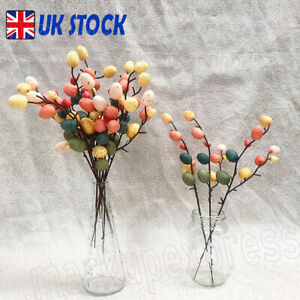 Home Decor DIY Painting Hanging Ornaments Egg Tree Branches Easter Decoration UK