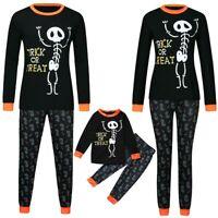 Halloween Theme Family Matching Pajamas Set Adults Kids Baby Sleepwear Nightwear