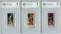 1980-81 Topps #6 Larry Bird Magic Johnson Single Panel Rookie Card BGS BCCG 8