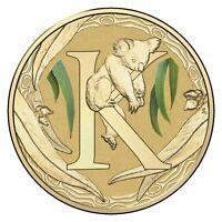 Australia 2017 Fair Dinkum Alphabet Letter 'K' Koala $1 Dollar UNC Coin Carded